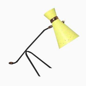 Lámpara de escritorio italiana modernista amarilla, años 60