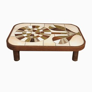 Tiled Ceramic Coffee Table by Roger Capron, 1970