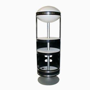 Meuble de Rangement Rotatif avec Lampe, Italie, 1960s