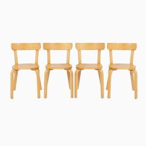 Chaises de Salle à Manger Modèle 69 Alvar Aalto for Artek, Finlande, 1930s, Set de 4