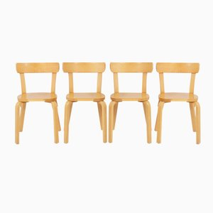 Finnish Model 69 Dining Chairs by Alvar Aalto for Artek, 1930s, Set of 4