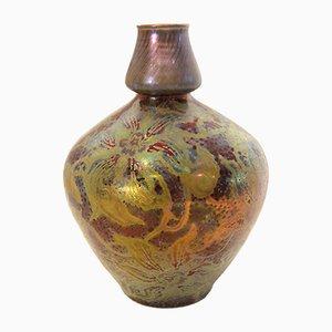 Französische Clematis Vase von Clement Massier, 1895