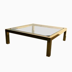Vintage Gold Leaf Coffee Table from Belgochrom