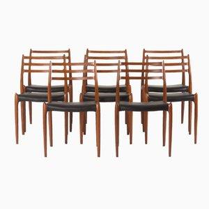 Chaises de Salon par Niels O. Møller pour J.L Møllers, 1950s, Set de 8