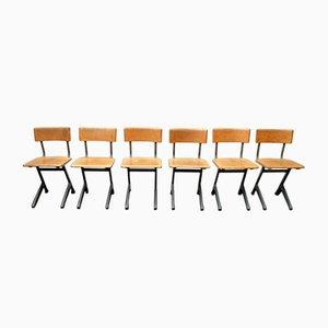 Mid-Century Industrie Stühle, 6er Set