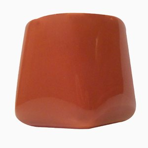 Vaso piccolo arancione di Nanna Ditzel per Soholm Denmark, anni '60