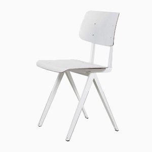 Dutch Model S16 White Pagwood Chair from Galvanitas, 1970s
