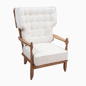 Chaise à Haut Dossier en Chêne Solide par Guillerme et Chambron pour Votre Maison, France, 1960s