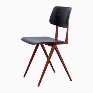 Niederländischer Modell S16 Stuhl aus Perlkupfer/Schwarzer Rotbuche von Galvanitas, 1970er