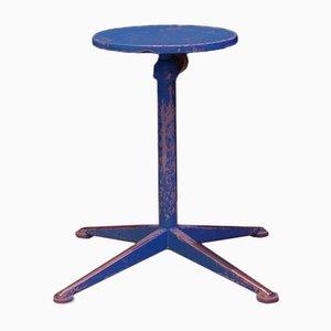 Taburete holandés alto en azul de Friso Kramer para Ahrend De Cirkel, años 50