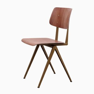Dutch Model S16 Pearl Gold/Brown Pagwood Chair from Galvanitas, 1970s