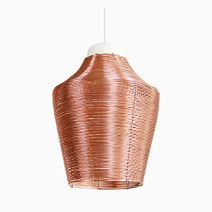 Tall Copper Braided Pendant Lamp by Studio Laurier