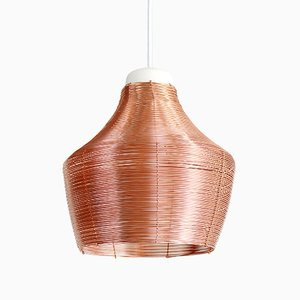 Fat Copper Braided Pendant Lamp by Studio Lorier