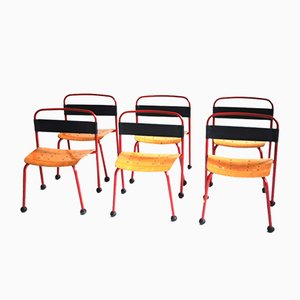 Italian Children's Chairs, 1960s, Set of 6