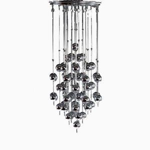 Metallic Ball Chandelier by Verner Panton for J. Lüber, 1970