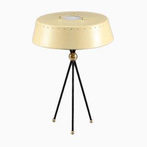 Lampe de Table Couleur Ivoire avec Trépied, Italie, 1950s