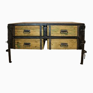 Industrial Steel & Beech Dresser