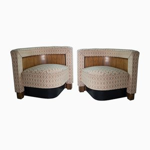 Czech Art Deco Club Chairs by Vlastimil Brozek, 1935, Set of 2
