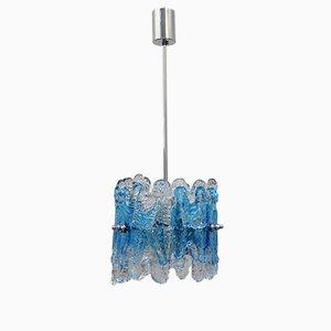 Lámpara colgante vintage de cristal de Murano