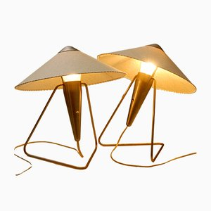 Brass Table Lamps by Helena Frantova for Okolo, 1953, Set of 2