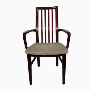 Mid-Century High-Backed Danish Rosewood & Wool Chair from SVA Möbler