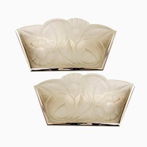 French Art Deco Wall Lights by David Guéron, 1930s, Set of 2