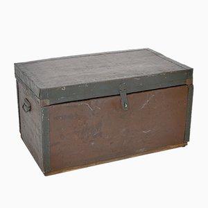 Caja de metal y madera, década de 1900