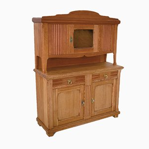 Small Art Nouveau Pine Kitchen Buffet, 1920s
