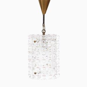 Lampada a sospensione Mid-Century moderna in cristallo di Carl Fagerlund per Orrefors, Svezia, anni '60
