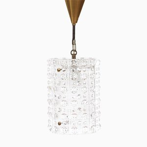 Swedish Mid-Century Modern Cristal Pendant Light by Carl Fagerlund for Orrefors, 1960s