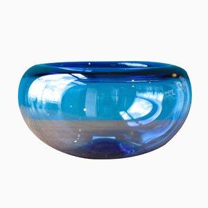Große Dänische Provence Schale in Blau von Per Lütken für Holmegaard, 1950er