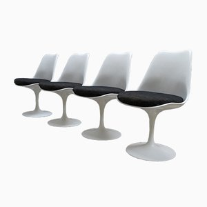 Non-Swivel Tulip Chairs by Eero Saarinen for Knoll International, 1980s, Set of 4