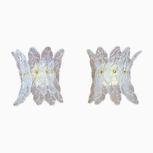 Aplique de cristal de Murano, años 70