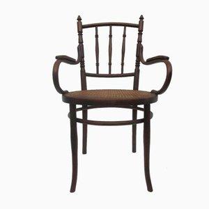 Austrian Bentwood & Cane Armchair from Josef Hofmann, 1900s