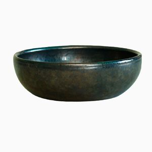 Black French Bowl by Robert Picault, 1940s