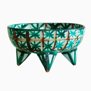 Large French Tripod Bowl by Robert Picault, 1940s