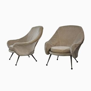 Martingala Armchairs by Marco Zanuso for Arflex, 1950s, Set of 2