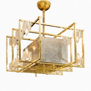 Geometric Brass Ceiling Light