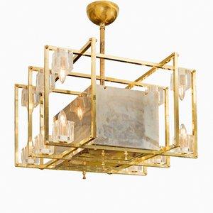 Lampada da soffitto geometrica in ottone