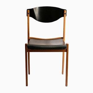 Französischer Zweifarbiger Buchenholz Stuhl, 1980er