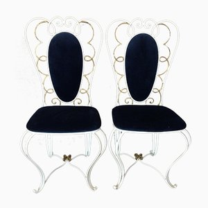 Vintage Wrought Iron Chair, 1950s, Set of 2
