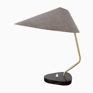 Lampe de Bureau Mid-Century en Marbre et en Aluminum Table Lamp de IGM