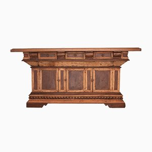 Cajonera italiana antigua de madera