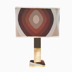 Lámpara de mesa vintage chapada en oro, años 60