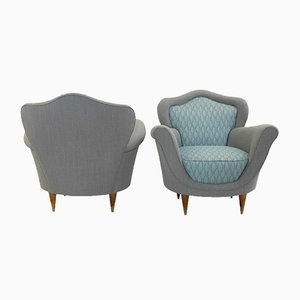 Italian Vintage Armchairs, Set of 2