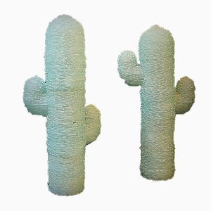 Murano Glass Cactus Lamps, Set of 2