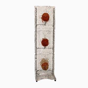 Lámpara de pie de cristal de Murano de Mazzega