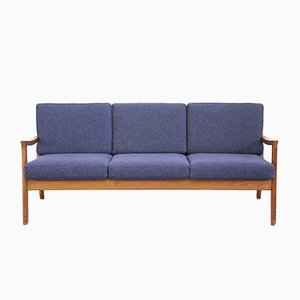 Mid-Century Danish Three-Seater Sofa by Ole Wanscher for France & Son