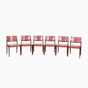 Chaises de Salon Mid-Century en Palissandre par Niels Møller, 1968, Set de 6