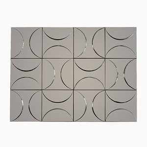 Geometrical Curved Metal Wall Panel, 1970s